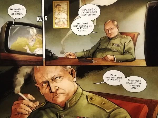 """Komiks Jan Paweł II """"Nie lękajcie się"""" z cyklu Papieże w historii -"""